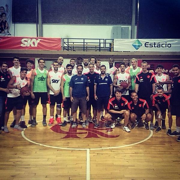El Basket World Tour con el equipo del Flamengo